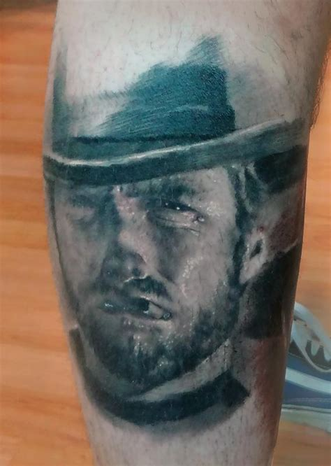 clint eastwood tattoo healed quot the quot clint eastwood by ian robert mckown