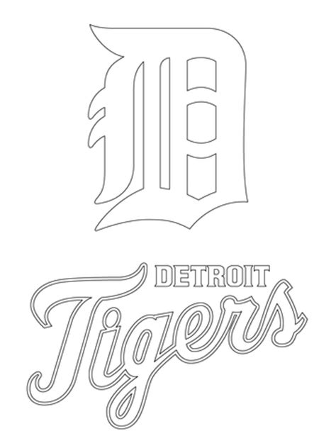Detroit Tigers Coloring Pages detroit tigers logo coloring page supercoloring