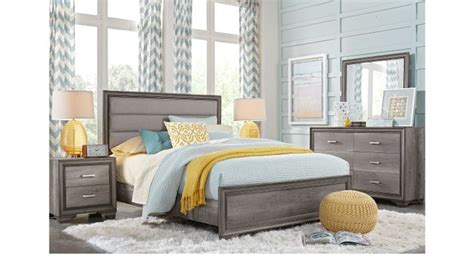 marlow gray  pc queen panel bedroom transitional