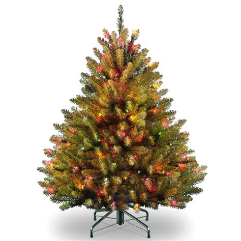 tree with multicolor lights national tree company 4 5 ft dunhill fir tree with