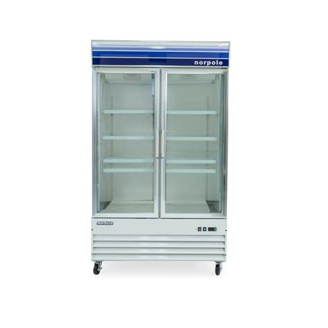 Norpole 49 In W 29 Cu Ft Glass Door Commercial Reach In Commercial Freezer Glass Door