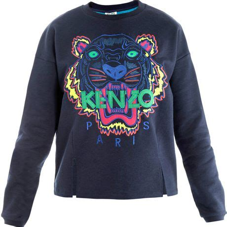 Kenzo Sweater Import 1 kenzo tiger embroidered sweater in blue tiger lyst