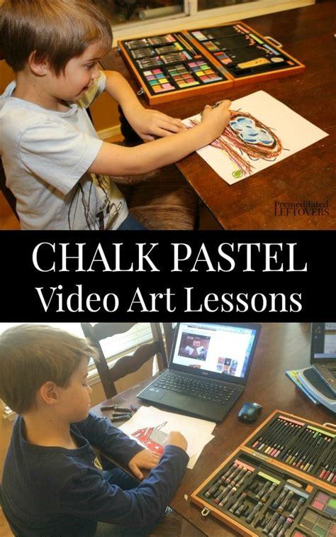 chalk pastel video art lessons  kids