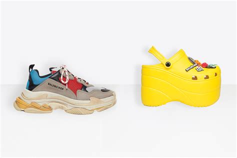 balenciaga gives crocs and trainers a facelift high net worth
