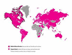 t mobile coverage map t mobile expands international coverage to 20 more