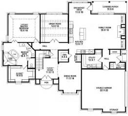 5 bedroom 3 bath floor plans 653906 beautiful 4 bedroom 3 5 bath house plan with views of the backyard house plans