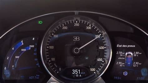 bugatti speedometer watch a bugatti chiron speedometer hit 218 mph autoblog