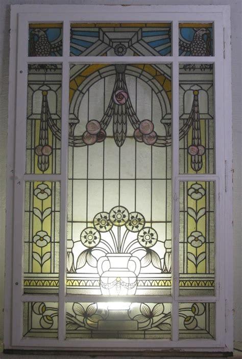 bleiverglasung jugendstil treppenhausfenster jugendstil mit sch 246 ner bleiverglasung