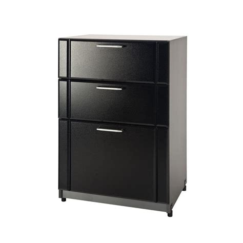 home depot garage cabinet closetmaid 37 in h x 24 in w x 18 6 in d 3 drawer garage cabinet in black 12742 the home depot