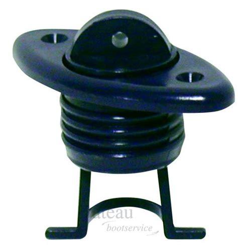 boat plug o ring ovale afvoerplug met o ring zwart of wit adapter