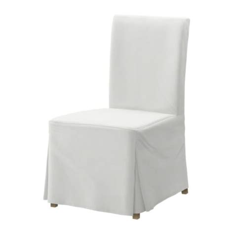 white budget henriksdal slipcovered dining chair at ikea