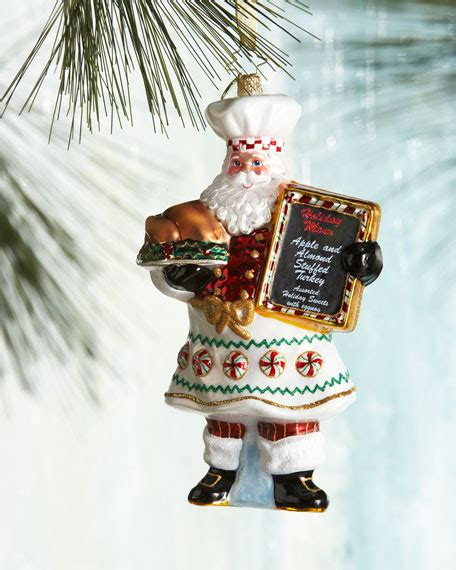 christopher radko cooking claus christmas ornament