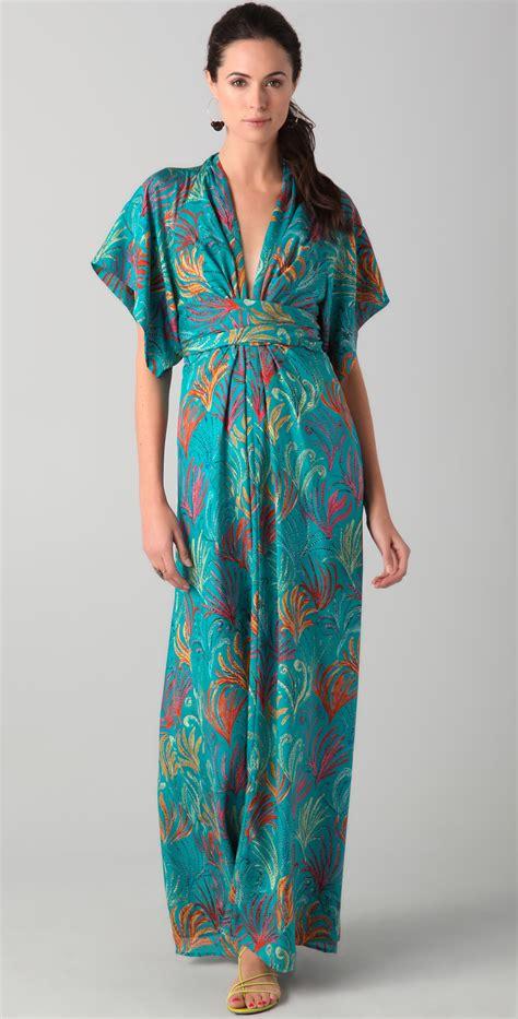 Dress Kimono lyst issa kimono dress in green