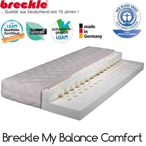 matratze 80x200 h3 breckle matratze 80x200 cm h3 my balance comfort lapur