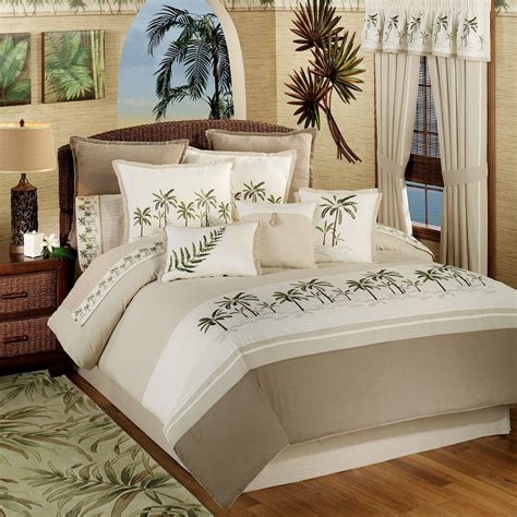palm tree comforter sets fiji tropical comforter bedding by croscill