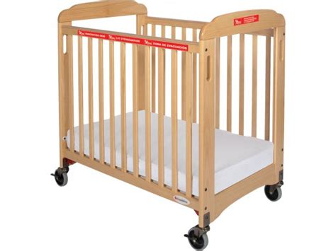 daycare baby cribs responder evacuation crib clearview w mattress fnd