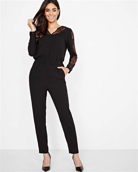 Sleeve Jumpsuit sleeve jumpsuit with lace rw co