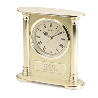seiko brass desk clock personalized seiko brass desk clock by things remembered
