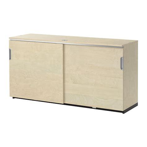 Galant Ikea Cabinet Galant Cabinet With Sliding Doors Birch Veneer Ikea
