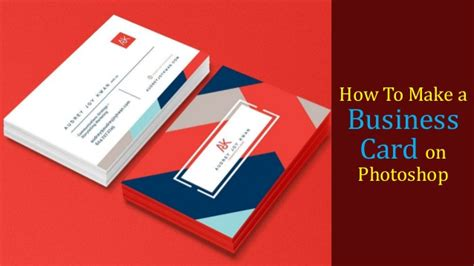 make a card in photoshop how to make a business card on photoshop