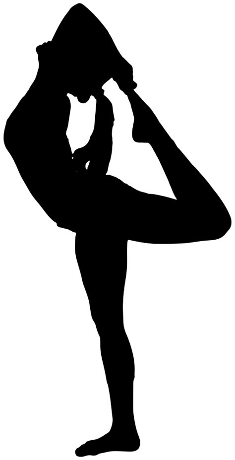 OnlineLabels Clip Art - Female Yoga Pose Silhouette 3