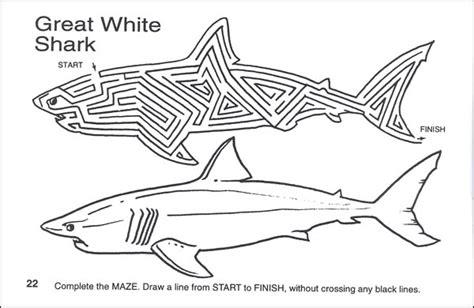 printable shark maze shark mazes activity book 060447 details rainbow