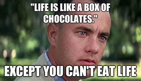 Life Is Like A Box Of Chocolates Meme - life is like a box of chocolates memes