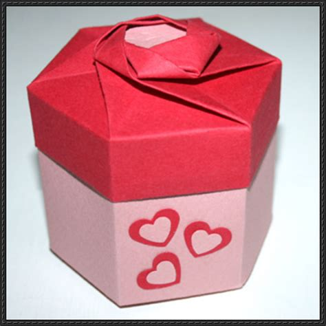 Origami Hexagonal Gift Box - how to fold a hexagonal origami gift box