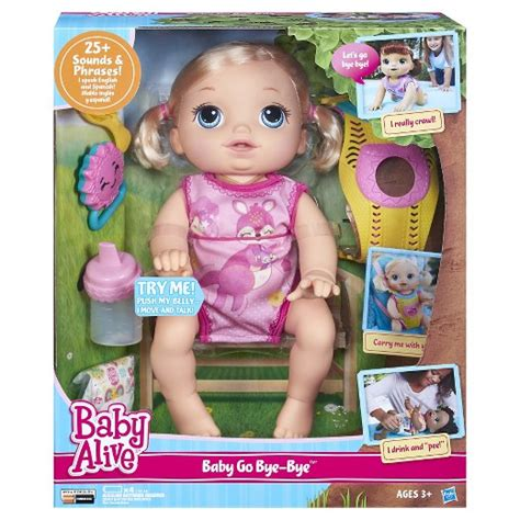 Cool Office Gifts by Baby Alive Baby Go Bye Bye Blonde Target