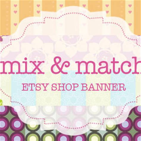 Interesting Things About Etsy Shop Frieda by Etsy Shop Banner Mix And Match Banner From