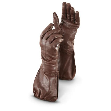 motorcycle gloves new italian military issue leather motorcycle gauntlet