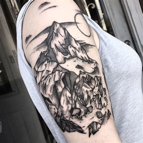 mountain tattoo sleeve collection of 25 mountains and animal tattoos on half sleeve