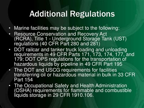 dot regulation 49 cfr part 40 section 40 25 developing best management practices for marinas and
