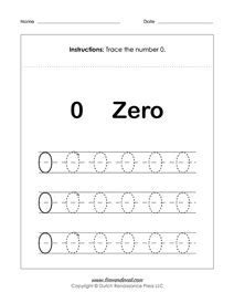 free number tracing worksheets preschool printables