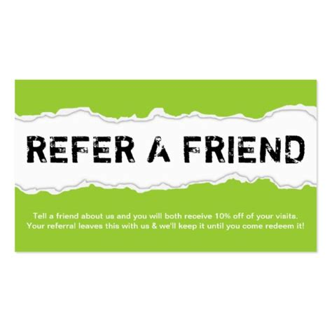 refer a friend card template free refer a friend page rip color customizable sided