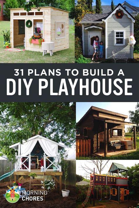 diy playhouse plans  build   kids secret