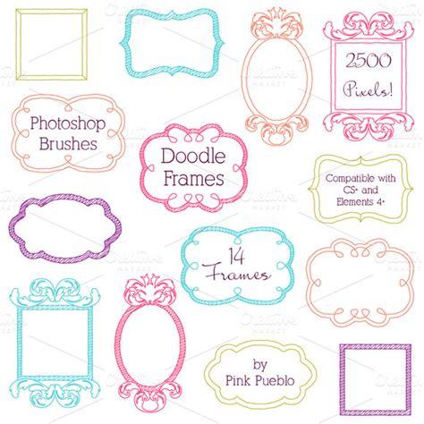 free doodle photoshop brushes frames for photoshop for free 187 designtube
