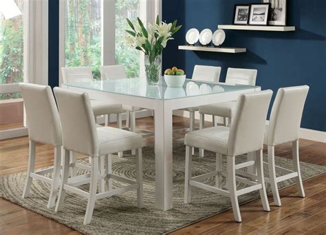best finish for kitchen table counter height dining table in white with 6 chairs