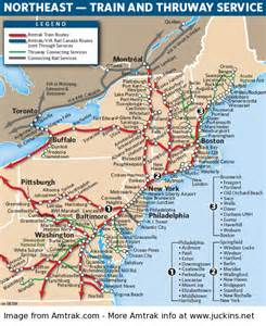 amtrak map eastern us juckins net amtrak routes at a glance