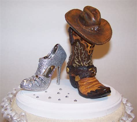 Cowboy Boots Cake Decorations by Western Cake Topper Wedding Cake Topper Cowboy Boot And