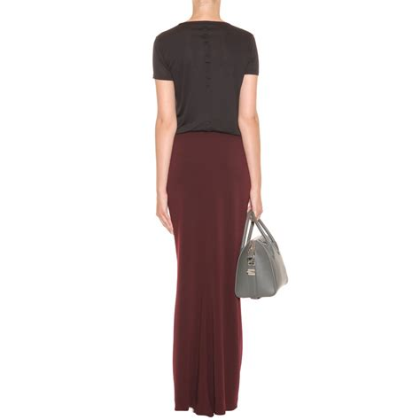 lanvin wool maxi skirt in lyst