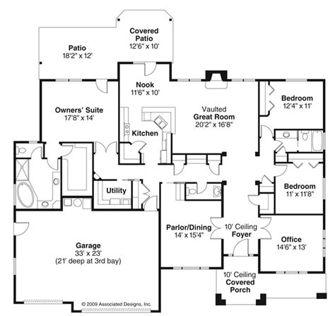 ranch 2300 sq ft house plans pinterest house plans creekstone 30 708 3 bedroom house plan from associated