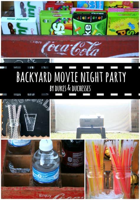 backyard movie night rental backyard movie night party dukes and duchesses