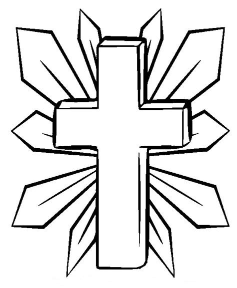 coloring page cross printable cross coloring pages coloring me