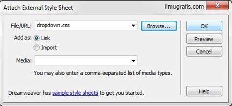 tutorial membuat menu dropdown di dreamweaver tutorial dreamweaver web desain belajar html css