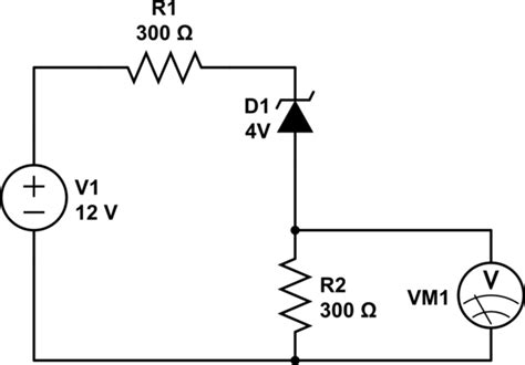 resistor and zener diode in series voltage divider a series resistor a biased zener diode electrical engineering
