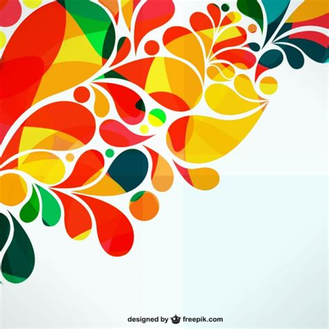 free designer colorful ornamental abstract design vector free
