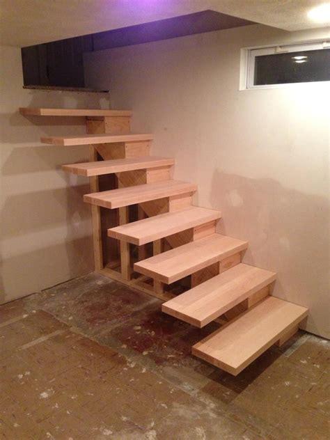 schwebende treppe installed floating stairs handy