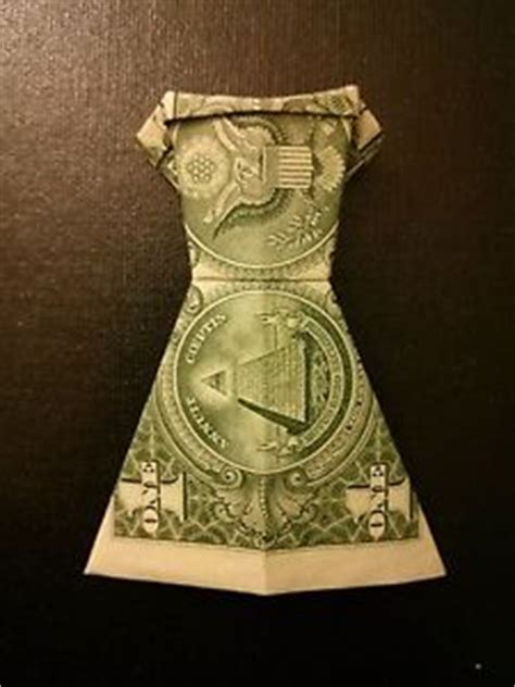 Money Origami Dress - money origami a dollar bill folded dress paper folding