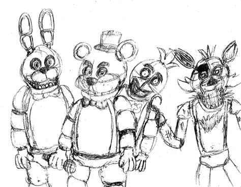 Fnaf 1 Sketches sketch 1 fnaf by gosky3 on deviantart
